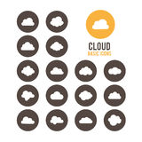 Cloud icons. Vector illustration. Royalty Free Stock Photos