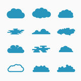 Cloud icons, vector illustration Royalty Free Stock Images