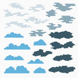 Cloud icons, vector illustration Stock Images