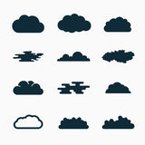 Cloud icons, vector illustration Royalty Free Stock Photos