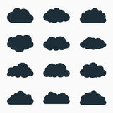 Cloud icons, vector illustration Royalty Free Stock Photography