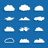 Cloud icons, vector illustration Stock Photography