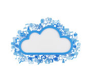 Cloud with icons Royalty Free Stock Photo