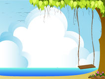 Cloud. Illustration of sea,clouds,and blue sky Stock Images