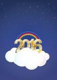 2016 cloud Royalty Free Stock Photo