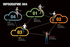 Cloud Infographic. Infographic illustrating the cloud network Stock Images