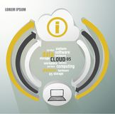 Cloud infographics Royalty Free Stock Photos