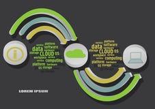 Cloud infographics vector illustration