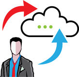 Cloud information exchange Royalty Free Stock Image
