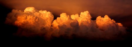 cloud intensywną burzę Obraz Stock