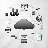 Cloud internet connection icon Vector Illustration. Cloud internet connection digital eletronic device icon Vector Illustration Stock Photos