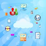 Cloud internet connection icon Vector Illustration Stock Image
