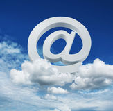 Cloud internet email service concept Royalty Free Stock Images