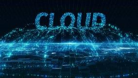 Cloud internet mobile blue digital concept 4k uhd stock video footage