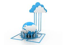 Cloud internet network Stock Image