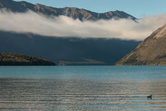 Cloud inversion above lake Rotoiti Royalty Free Stock Images
