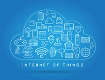 Cloud IOT Internet of Things Smart Home Vector Quality Design wi Stock Photo