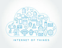 Cloud IOT Internet of Things Smart Home Vector Quality Design wi. Th Icons Stock Image