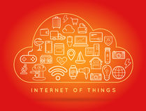 Cloud IOT Internet of Things Smart Home Vector Quality Design wi Royalty Free Stock Photography