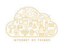 Cloud IOT Internet of Things Smart Home Vector Quality Design wi Stock Image