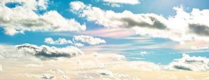 Cloud iridescence in blue sky royalty free stock photos