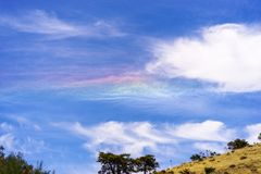 Colorful cloud iridescence stock image