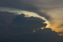 Cloud iridescence Stock Photography
