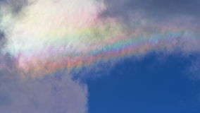 Cloud iridescence Stock Image