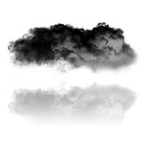Cloud and its reflection isolated over pure white background Royalty Free Stock Images