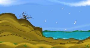 cloud jabłko kwiaty obszar łąkowego kształtuje charakter słońca drzewa Obraz Stock