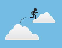 Cloud Jumping Stock Image