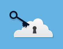 Cloud Key Stock Image
