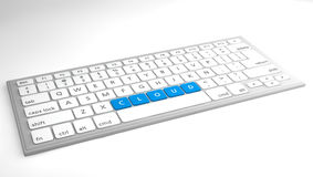 Cloud on keyboard concept Royalty Free Stock Image