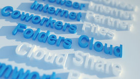Cloud. Keywords related to cloud computing Stock Photography