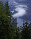 Cloud and Konigsee. Hiking through the Bavarian Alps of Southern Germany Royalty Free Stock Image