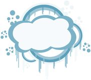 colorful isolated Cloud label Stock Image