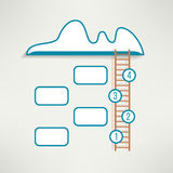 Cloud with ladder simple clean infographics design Royalty Free Stock Photo