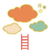 Cloud ladder and star illustration Stock Photos