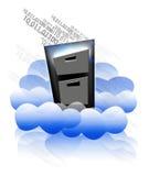 cloud lagring vektor illustrationer