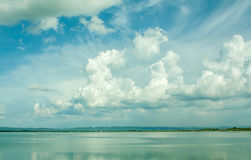 Cloud with lake Royalty Free Stock Photos