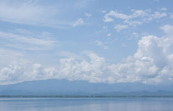 Cloud with lake Royalty Free Stock Image