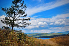 Cloud lake. The pearl of the South Urals - lake Turgoyak Royalty Free Stock Photography