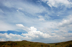 Cloud Landscape. Image of clouds and landscape Stock Photos