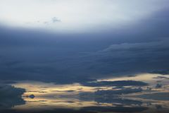 Cloud Landscape in Indonesia stock images