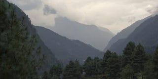 Cloud landscape, Sagarmatha National Park, Himalayas, Nepal Stock Photos