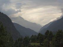 Cloud landscape, Sagarmatha National Park, Himalayas, Nepal Stock Image