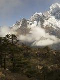 Cloud landscape, Sagarmatha National Park, Himalayas, Nepal Royalty Free Stock Photos