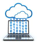 Cloud and laptop Stock Photography
