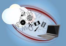 Cloud laptop Stock Photography