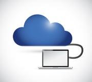 Cloud and laptop illustration design Stock Photo